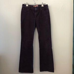Purple Corduroy Flare Pants